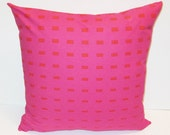 Marimekko pillow cover in authentic Kullervo fabric from Finland, in standard sizes,, red/fuchsia, accent pillow FREE SHIPPING Canada and US