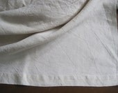 Unused vintage French pure linen sheet, comfortable bedding fabric or great curtain - lovely!