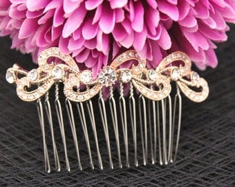 Rose gold Wedding hair comb,Bridal hair accessories,Wedding hair piece,Wedding comb rose gold,Bridal hair comb Rose gold,Wedding hair piece