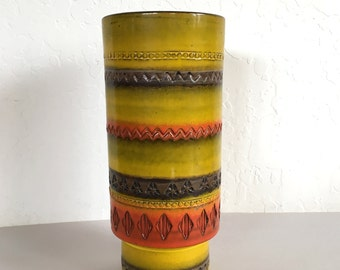Vintage Italian Bitossi Rimini Vase Mid Century Pottery