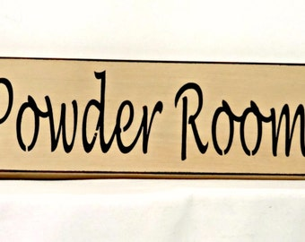 Powder Room - Primitive Country Painted Wall Sign, Bathroom sign,  Ready to Ship, home decor, room decor
