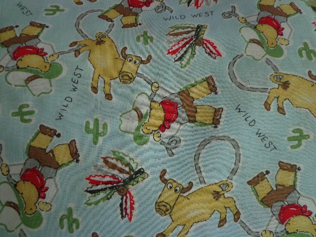 Children's Wild West Fabric Cowboy Themed