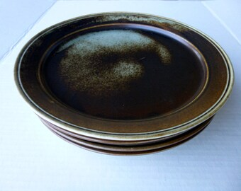 Vintage Porsgrund Lava Plate, Norway Porsgrund Lava, Lot OF 4  Porsgrund Dinner Plate, Mod Danish, Scandinavian Dish, 1970s Stoneware Plate