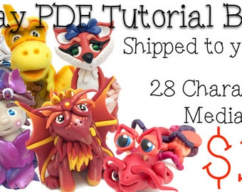 28 Polymer Clay Tutorials Bundle Pack - Also for Fondant, Sugar Paste, & Other Sculpting Mediums