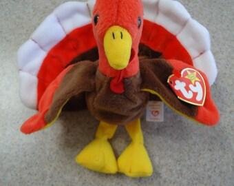 Vintage 1997 Ty Gobbles the Turkey Beanie Baby