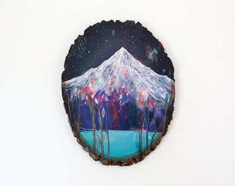 Phenomenon // 8 x 10 art print on wood round, medium