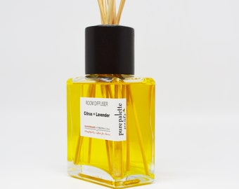 Citrus Lavender Reed Diffuser Oil - Fragrance - Home Decor / Dorm Decor with Natural Undyed Reeds