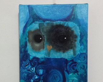 Msssenger Owl Series painting by Julie Sutherland