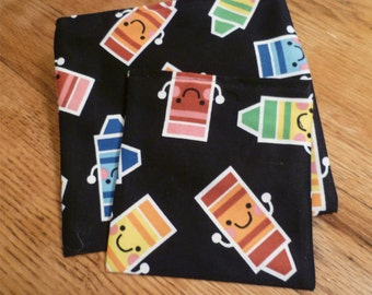 Reusable Snack Sandwich Bag Set Cars Trucks Buses and Airplanes