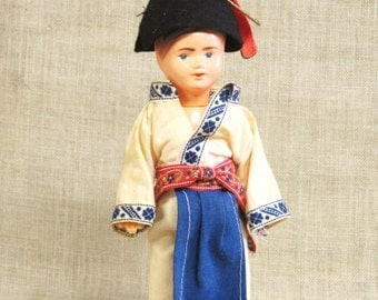 Male Doll, Souvenir Doll, Vintage Dolls, Male Dolls, French Basque, French Costume, Small Doll, Carnival Doll , Boy , Antique Doll, Vintage