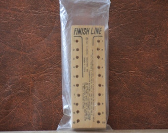 Peg Board Game/Vintage Finish Line Brain Teaser Game by Cardinal Industries Inc./Stocking Stuffer/1987