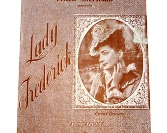 1947 Savoy Theater London Playbill - W. Somerset Maugham - Lady Frederick - Coral Browne - 1940s Aunthentic British Playbill