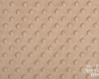 Minky Dot Fabric - Camel