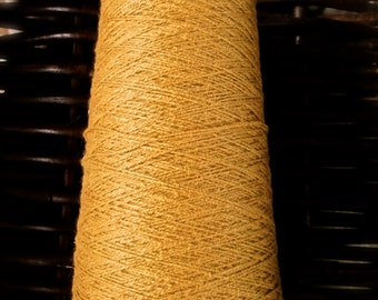 """100% Organic Cottolin 8/2 """"Golden Brown"""" Cotton - Linen Blend"""