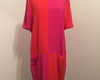 Vintage colorblock frock dress. Size 12