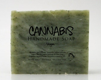 Cannabis Handmade Soap, Vegan, Organic, 100% Natural