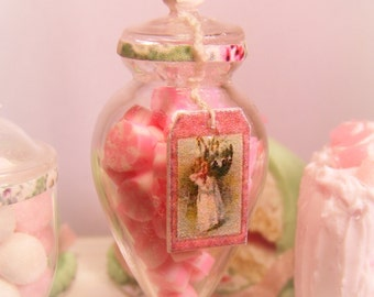 12th Scale Doll House Jar Of Pink Candies