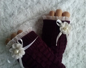 Hand-Knitted Fingerless Gloves, Winter Accessories, Hand Knitted Fingerless Gloves, knit muffs Gift For , FREE SHİPPİNG!