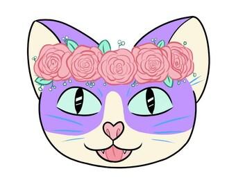 Rosie Pastel Kitty Sticker
