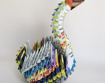 Tea Cover 3D Origami Crane
