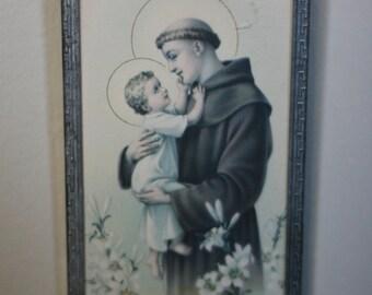 vintage saint framed print