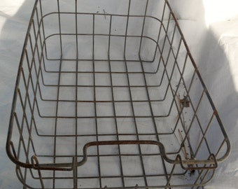 Antique Vintage Frezzer Basket for Utility Use or Product Display (50 % OFF APPLIED)