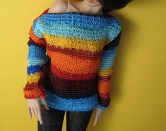 Sunset Knit Sweater for MSD SD+ Ball Jointed Doll