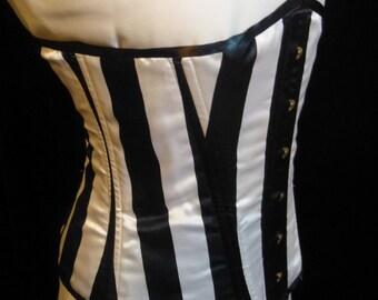 Gothic Striped Underbust Corset, Size 10-12