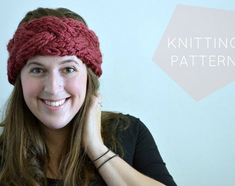 Instant Download Knitting Pattern - Womens Earwarmer Pattern - Knit Earwarmer Pattern - Knit Headwrap Pattern Women's Accessories