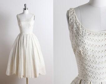 vintage 50s dress | Best & Co NY vintage 1950s dress | wedding dress xs/s | 5721