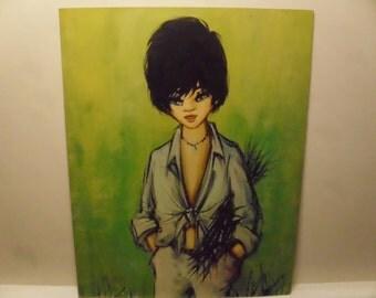 Vintage 1960's/1970's  Vintage Woman Lithograph