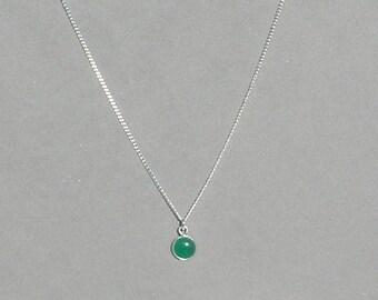 Green Aventurine Gemstone Drop Necklace