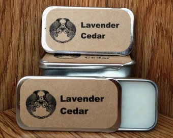 Lavender and Cedar Solid Perfume Balm