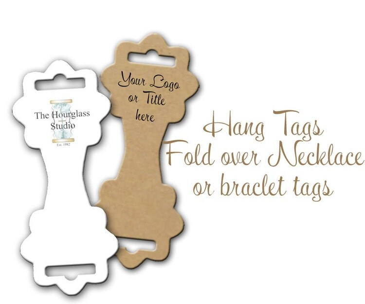Fold-over Tag Hang Tag Bracelet Display By TheHourglassStudio