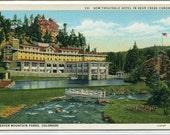 Troutdale Hotel Bear Creek Canyon Denver Mountain Parks Colorado postcard