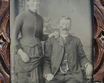 Tintype 'Til Death Do Us Part Couple