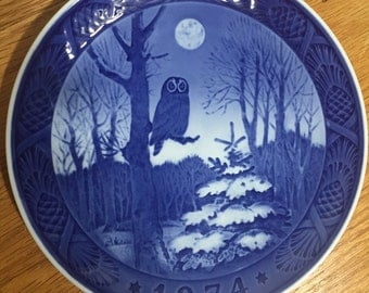 Royal Copenhagen 1974 Vintage Plate Winter Twilight
