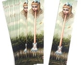 Alice in Wonderland Bookmark book mark - by Mab Graves -