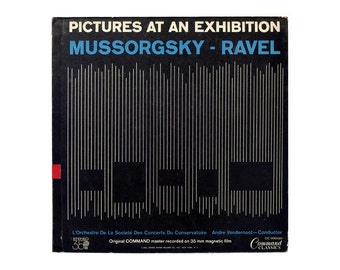 "Josef Albers record album design, 1961. Mussorgsky-Ravel ""Pictures at an Exhibition"" LP"