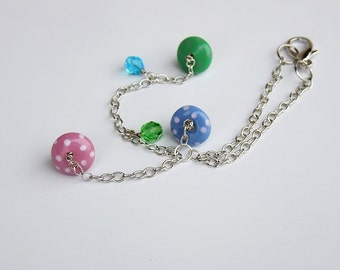 Colorful Mushrooms and Beads Car Charm for Rear View Mirror