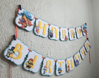 Wallykazam Personalized Banner/ cake topper/ paper straws/ cupcake toppers/ center piece/ welcome sign/ and more.