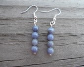 Natural Tanzanite French Hook Earrings