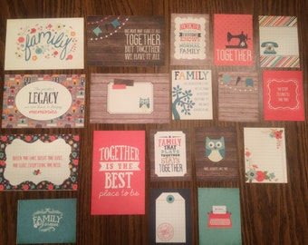 Echo Park FAMILY project life cards - set of 18