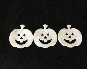 Felt White Jack-O-Lanterns-DIY Kits for Independent Consultants Parties-Hair Accessories Decorations-Embellishments-Fall Wax Dipping