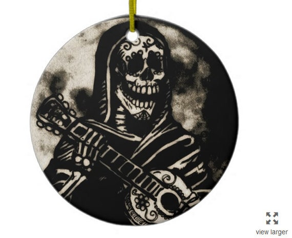 Day of the Dead Guitarist ornament