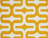CLEARANCE SALE Premier prints embrace corn yellow geometric home deco fabric