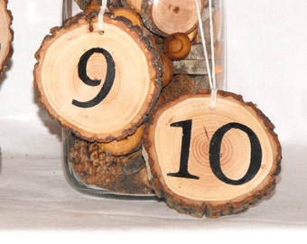 Wedding Table Numbers ~ Customized Table numbers ~ Wood Table Numbers ~ Wood Slice Numbers ~ wedding ~ graduation ~ Wooden Table numbers