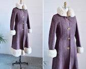 Vintage 1970s ABERCROMBIE & FITCH sheepskin maxi coat