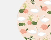Round Mouse Pad - Cute Mousepad - Swan Mouse Pad - Floral Mouse pad - Cute Mouse Pad - Pink Mousepad - Pink Mouse Pad - Floral Mousepad