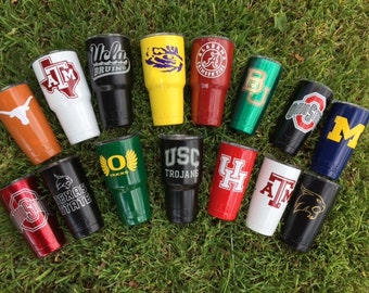 College Football Powder Coated YETI Cup